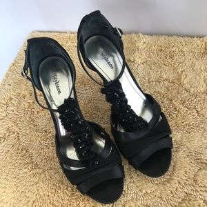 Style & Co Jackie T-Strap Black Heels